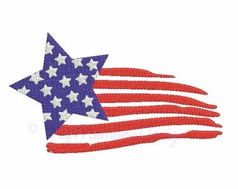 Flag embroidery design - American flag embroidery - 4th of july design - Machine embroidery INSTANT DOWNLOAD pes hus jef vip vp3 xxx dst exp