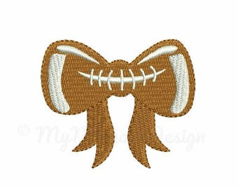 Football embroidery design - Bow embroidery - Machine embroidery - Digital File - Instant download - pes hus jef vip vp3 xxx dst exp
