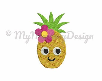 Pineapple embroidery design - Summer embroidery - Fruits embroidery design - Tropical design - Machine embroidery  design - INSTANT DOWNLOAD