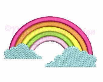 8 size Rainbow Embroidery Design - Summer embroidery pattern - Cloud embroidery digital designs - Machine embroidery INSTANT DOWNLOAD file