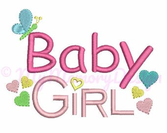 Baby Girl Embroidery Design - New born embroidery - Girl Embroidery Pattern - Machine embroidery digital file - INSTANT DOWNLOAD - 3 size