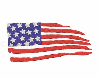 American flag embroidery design - Flag embroidery - Patriotic design - Machine embroidery INSTANT DOWNLOAD - pes hus jef vip vp3 xxx dst exp