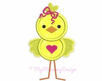Easter embroidery design - Easter applique - Easter chick embroidery - Machine embroidery design - 4x4 5x7 6x10 size - INSTANT DOWNLOAD
