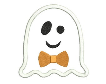 Ghost applique design - Halloween embroidery - Boy Ghost embroidery - Machine  embroidery desihn - INSTANT DOWNLOAD - 4X4 5X7 6X10 size