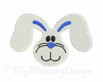 Bunny Fill Stitch Embroidery Design - Easter embroidery - Cute Bunny Embroidery - Machine embroidery pattern - INSTANT DOWNLOAD 4 sizes