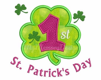St. Patrick's Embroidery Design - Clover embroidery - Clover applique - Shamrock embroidery -  Machine embroidery Instant download 3 size