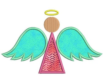 Angel embroidery design - Angel applique - Christmas embroidery design - Machine embroidery pattern - 4x4 5x7 6x10 size - INSTANT DOWNLOAD