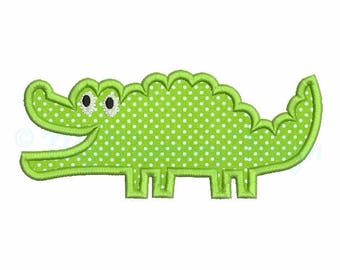 Crocodile embroidery design - Summer applique - Machine embroidery - Digital File Instant download - pes hus jef vip vp3 xxx dst exp 3 SIZE