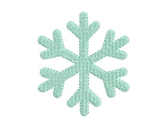 10 SIZE - Snowflake embroidery  design - Fill stitch embroidery - Winter  design - Christmas embroidery - Embroidery file - Instant download