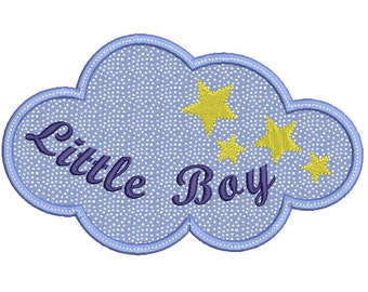 Cloud  Embroidery Design - Baby boy embroidery design - Star embroidery - Machine embroidery design - INSTANT DOWNLOAD - 4x4 5x7 6x10 size