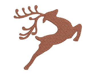 Reindeer fill stitch embroidery design - Deer embroidery pattern - Machine embroidery file - 7 SIZE - Instant download - for 4x4 5x7 hoop