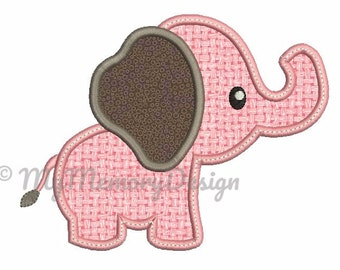 Elephant embroidery - Baby elephant applique - Baby embroidery design - Animal design - Machine embroidery - INSTANT DOWNLOAD - 4x4 5x7 6x10