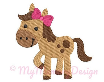 Girl Horse Embroidery Design - Girl Embroidery Pattern - Machine embroidery digital dowload file - INSTANT DOWNLOAD 8 SIZES