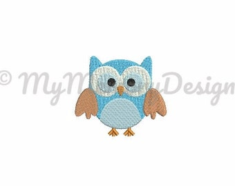 Owl embroidery - Animal embroidery - Owl embroidery design - Filled stitch embroidery - Machine embroidery - INSTANT DOWNLOAD - 6 size