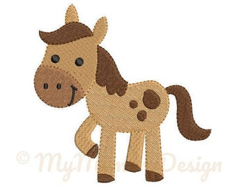 Horse Embroidery Design - Girl Embroidery Pattern - Machine embroidery digital dowload file - INSTANT DOWNLOAD 7  SIZES