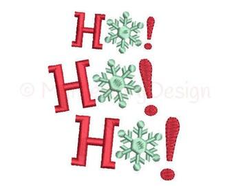 Santa embroidery design - Ho Ho Ho design - Christmas embroidery design - Machine embroidery design - INSTANT DOWNLOAD  3 sizes 4x4 5x7 6x10