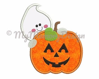 Halloween Pumpkin Machine Embroidery Design