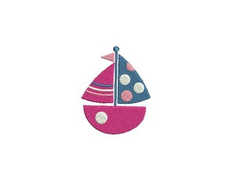 Boat embroidery design - Sailboat embroidery design - Mini embroidery design  - Summer embroidery - Machine embroidery - INSTANT DOWNLOAD