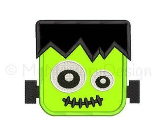 Halloween Applique Design - Frankenstein head embroidery - Boy Embroidery Design - INSTANT DOWNLOAD - 3 size - 4x4 5x7 6x10