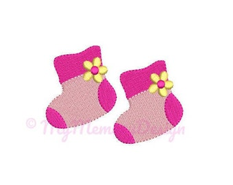Baby Shoes Embroidery Design - Girl Embroidery Pattern - Machine embroidery digital dowload file - INSTANT DOWNLOAD 5 SIZES