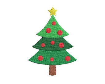 Christmas tree  mini fill stitch embroidery design - Xmas lights design - Mini embroidery - Machine embroidery file -7 SIZE for 4x4 5x7 hoop