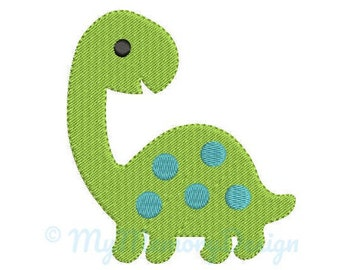 Dinosaur Embroidery Design- Baby embroidery design, Baby Animal Embroidery- Birthday Machine embroidery design- INSTANT DOWNLOAD, 5 SIZES