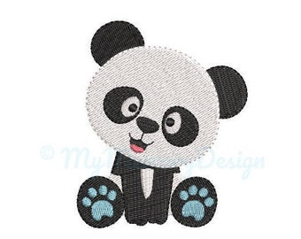 Panda Embroidery Design - Baby Bear Embroidery Pattern - Machine embroidery digital dowload file - INSTANT DOWNLOAD 5 SIZES
