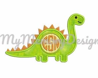 Dinosaur Applique Design - Back to the school embroidery design - Dino embroidery design - Instant download machine embroidery design