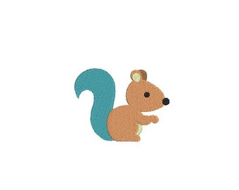 Animal embroidery pattern - Squirrel embroidery - Baby embroidery -  DIGITAL DOWNLOAD - 5 size