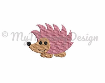 Hedgedog embroidery - Animal embroidery - Woodland animal embroidery - Filled stitch - Machine embroidery design - Instant download - 4 SIZE