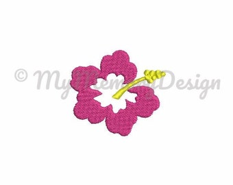 Hawaii embroidery - Hibiscus embroidery design - Flower embroidery - Fill stitch design - Machine embroidery - INSTANT DOWNLOAD - 4 size