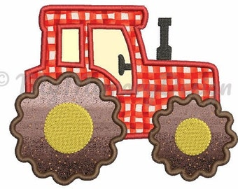 Tractor Embroidery  Design - Tractor Applique Design - Applique for boys -  Vehicle Applique - Machine embroidery design