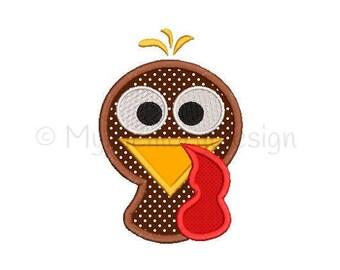 Boy Turkey Applique Design - Turkey embroidery design - Thanksgiving design - Machine embroidery design - INSTANT DOWNLOAD - 4x4 5x7 6x10
