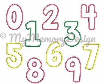 Applique Numbers Design, Applique Numbers, Birthday Numbers Embroidery , Embroidery Machine Design , Baby Embroidery , in 3 size