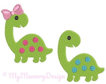 Dinosaur  Embroidery Design - Animal Embroidery Pattern - Machine embroidery digital dowload file - INSTANT DOWNLOAD 5 SIZES