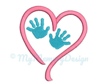 Baby Hand Embroidery Design - Newborn Embroidery Pattern - Machine embroidery digital dowload file - INSTANT DOWNLOAD - 4 sizes