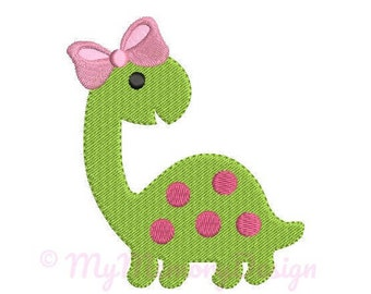 Dinosaur Girl Embroidery Design - Animal Embroidery Pattern - Machine embroidery digital dowload file - INSTANT DOWNLOAD 5 SIZES