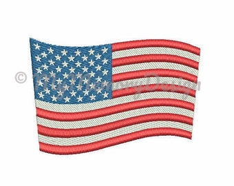 4th july embroidery - Flag embroidery design - American flag embroidery - USA embroidery - Memorial day - Machine embroidery design -