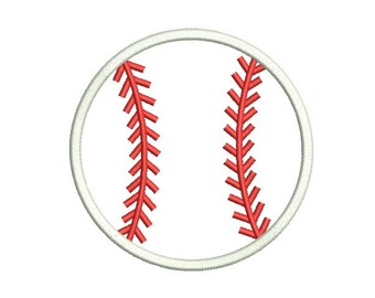 Baseball Embroidery Design , Softball Applique ,Baseball Applique , Ball  Applique, 3 Size , 4x4 5x7 6x10 embroidery ,Machine Embroidery