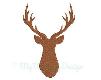Deer Head Embroidery Design - Mini Embroidery Pattern - Machine embroidery digital dowload file - INSTANT DOWNLOAD 5 SIZES