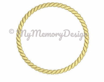 Frame embroidery design - Rope frame design - Elegant design - Monogram frame design - Wedding design -  Sailor design - Machine embroidery