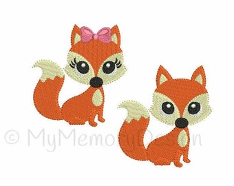 Fox Embroidery Design - Animal Embroidery Pattern - Machine embroidery digital dowload file - INSTANT DOWNLOAD - 6 sizes