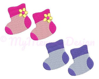 Baby Booties Embroidery Design - Newborn Embroidery Pattern - Machine embroidery digital dowload file - INSTANT DOWNLOAD