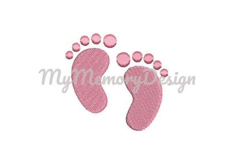 Baby embroidery design  Feet embroidery  Filled stitch mini image 0