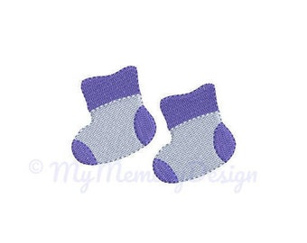 Baby Shoes Embroidery Design - Newborn Embroidery Pattern - Machine embroidery digital dowload file - INSTANT DOWNLOAD 6 SIZES