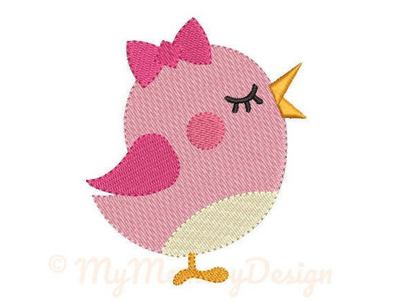 Girl Bird Embroidery Design Girl Embroidery Pattern Etsy