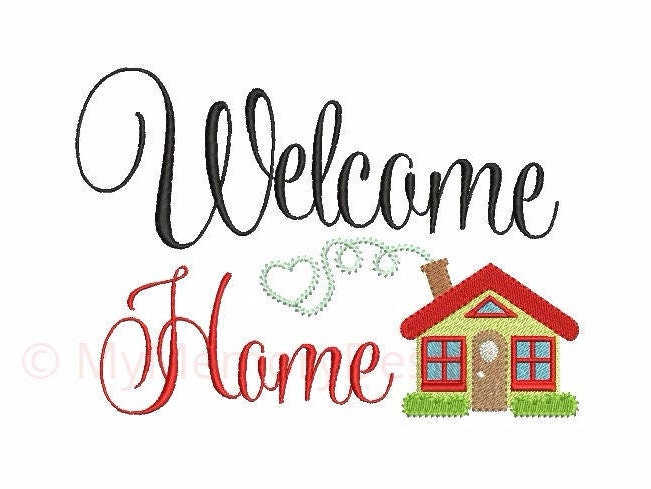 Home Embroidery Welcome Embroidery Design Kitchen Design Machine Embroidery Instant Download Digital File 4x4 5x7 6x10 Sizes