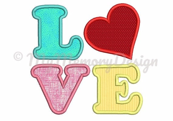 Heart embroidery design for valentine day love applique heart