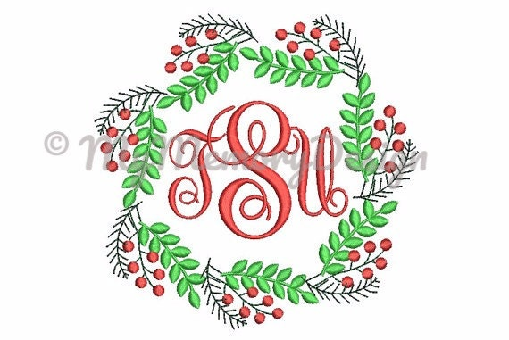 Frame Embroidery Design Christmas Embroidery Pattern Etsy