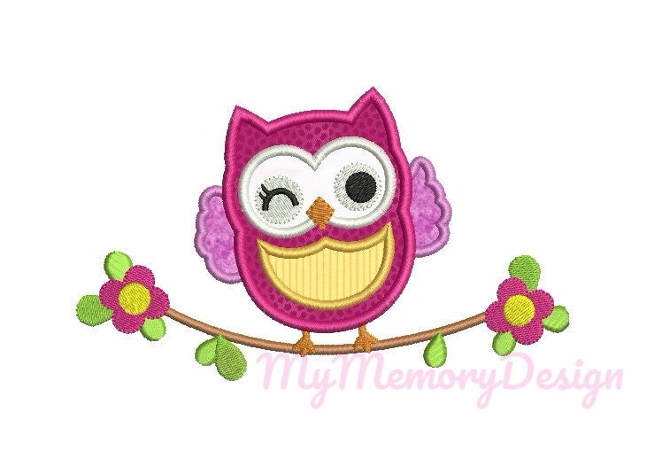 Owl embroidery design owl applique animal embroidery etsy